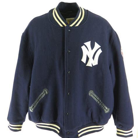 Jaket Sweater Jaket Clasic Basseball vintage 80s new york yankees jacket mens 64 mitchell ness mlb baseball wool the clothing vault