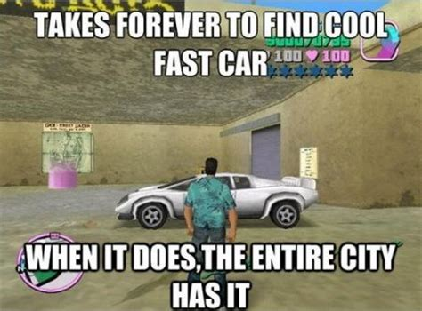 Fast Car Meme - immersion in the video game world goodies for true