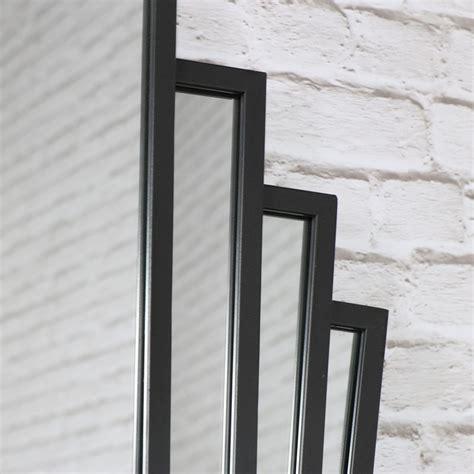 deco fan wall mirror black deco fan style wall mirror browne
