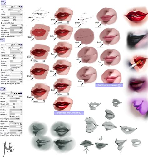 watercolor mouth tutorial lips tutorial by marcelafreire on deviantart