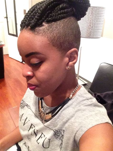 box braids on shaved hair 1000 images about shaved sides on pinterest