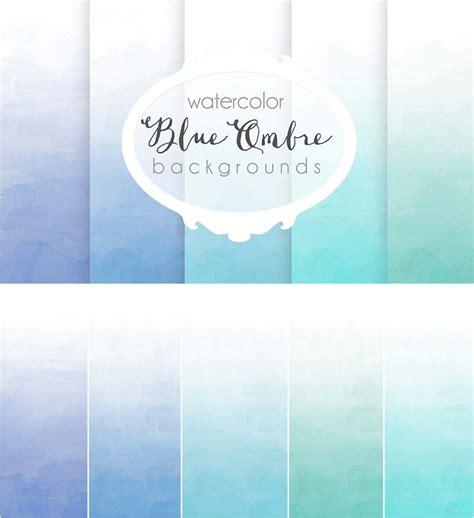 blue ombre background set