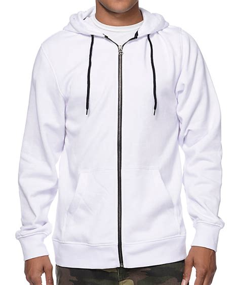 Jaket Hoodie Zipper White High Quality 7 Roffico Cloth white zipper hoodie baggage clothing