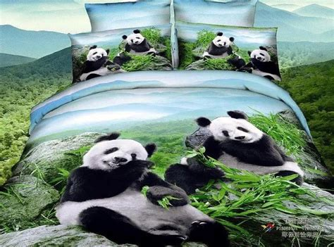 panda bed set 3d panda bedding set queen size 100 cotton bed in a bag