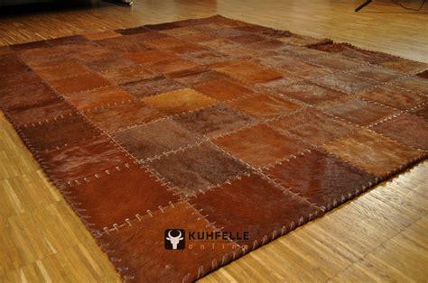 teppich braun kuhfell teppich braun 200 x 160 cm handvern 196 ht