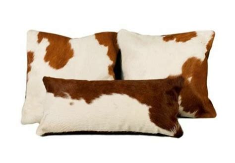 How To A Cowhide by Cowhide Pillow Cover Cushion Cow Hide Hair On Cover Set