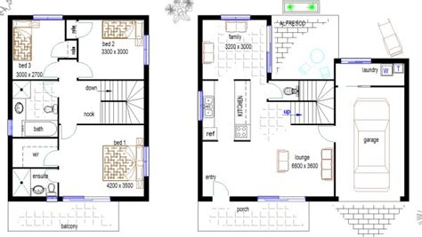 Townhouse Floor Plans Australia | australian 146 narrow block duplex design townhouse floor