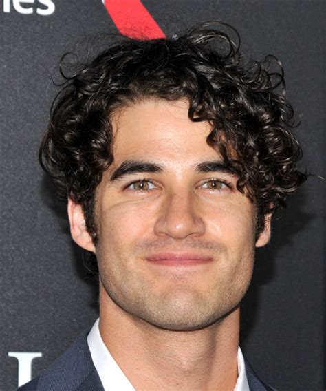 Darren Criss Short Curly Casual Hairstyle Black Hair Color