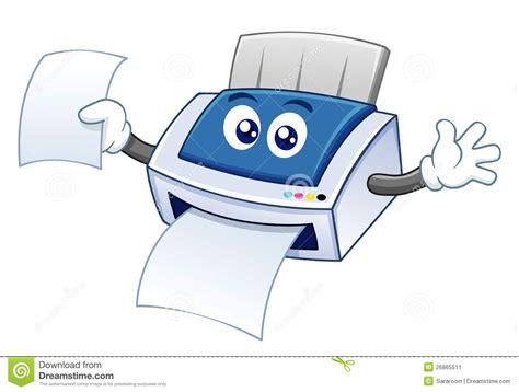 Cartoon Printer Stock Image Image 26865511