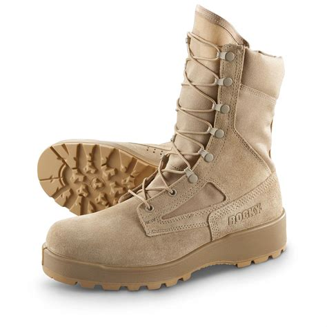 s rocky 174 steel toe weather boots sand 292267
