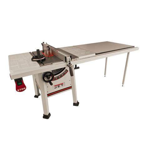 jet proshop table saw jet 1 75 hp 10 in proshop table saw with 52 in fence