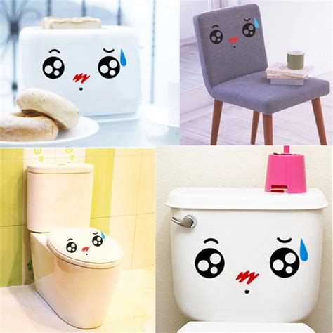 funny bathroom accessories bathroom accessories cartoon cute expression waterproof