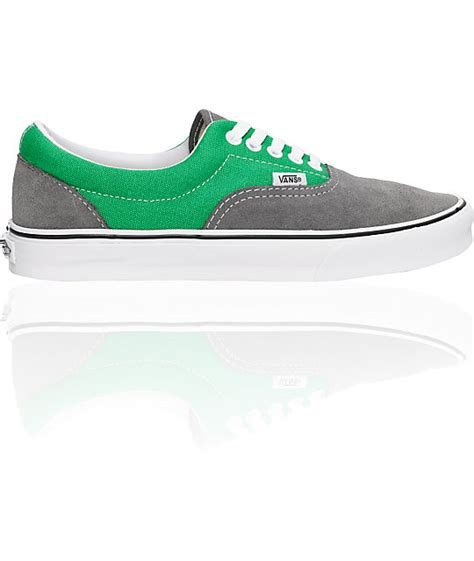 Vans Era Grey Green vans era grey suede green skate shoes mens at zumiez pdp