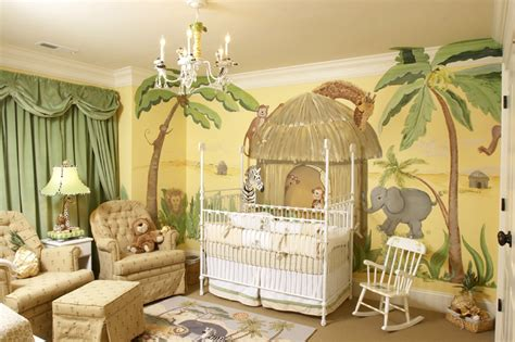 Nursery Murals Ck Paints Custom Hand Painted Murals Nursery Jungle Decor