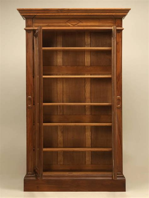 vintage bookshelves for sale antique walnut bookcase or bibliotheque for sale at
