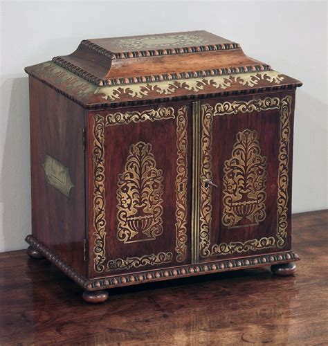 Regency table top cabinet, antique jewelley box, miniature