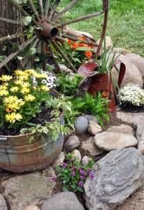 Rustic Landscaping Ideas For A Backyard Best 25 Rustic Garden Decor Ideas On Rustic Landscaping Country Garden Decorations