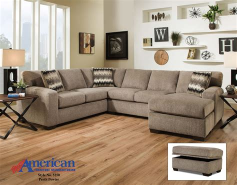american furniture sectional 5250 perth pewter sectional american furniture