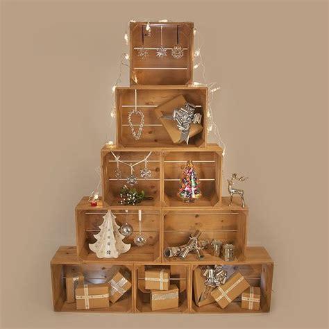 le cassette un albero di natale con le cassette di legno 11 idee a