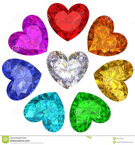 heart shaped clipart diamond shape pencil and in color