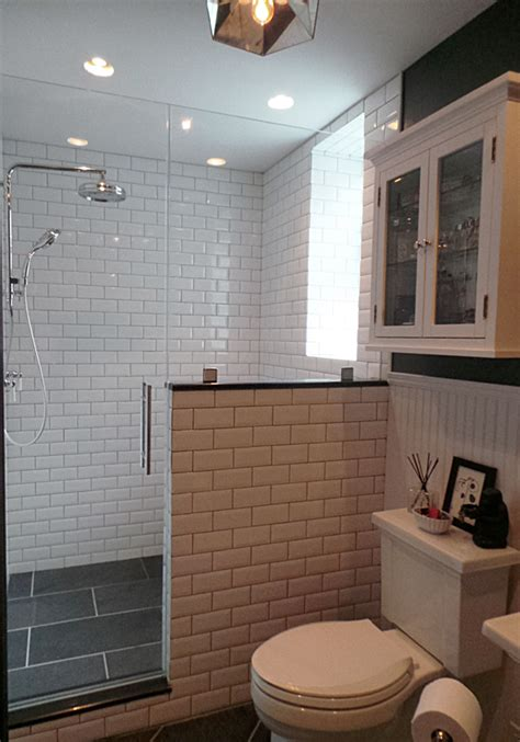 d bathroom walls thermostatic rain shower slate tiles beveled subway