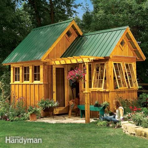 outdoor sheds plans shed plans storage shed plans the family handyman