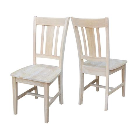 Unfinished Dining Chair International Concepts Unfinished Wood X Back Dining Chair Set Of 2 C 20p The Home Depot