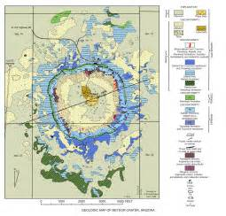 meteor crater geologic map meteor crater arizona mappery