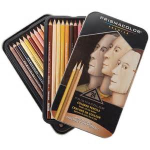 prismacolor colored pencils prismacolor pencil 24 color portrait set ebay
