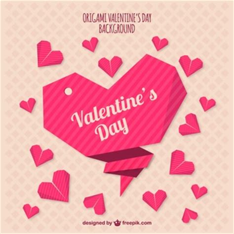 Origami Valentines Day - vectors photos and psd files free
