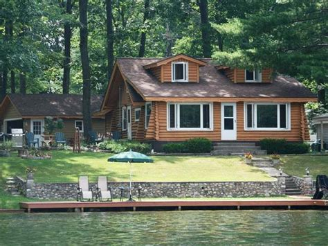Cabins In Northern Michigan For Sale by Cabin Waterfront Waterfront Log Cabin For Sale On Lake George In Northern Michigan