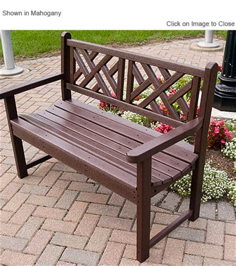 polywood benches outdoor polywood 174 cb48 chippendale garden bench polywood furniture