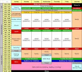 Time Blocking Template by Family Weekly Schedule Template Free Calendar Template 2016