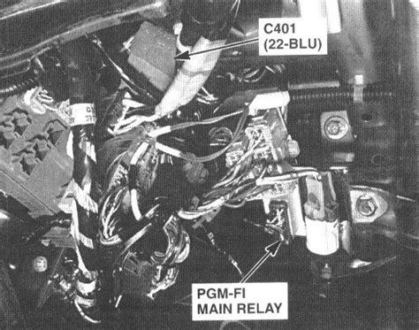 2000 honda accord fuel relay location need location of fuel relay on 2000 honda accord