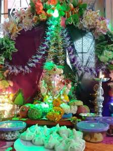 home flower decoration ganesh chaturthi decoration ideas for home with flowers