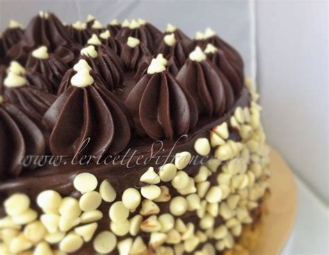 decorare torta al cioccolato torta ganache al cioccolato e crema le ricette di francesca