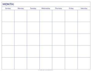 free large blank landscape calendar from formville blank calendar to print