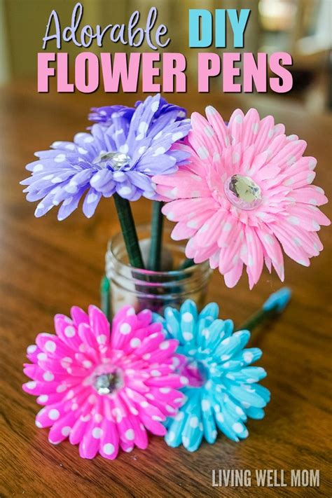 how to make flower pens flower pens diy flower and