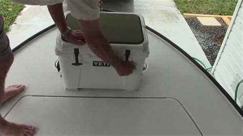cooler seat for bass boat yeti cooler review installation as a casting deck on a