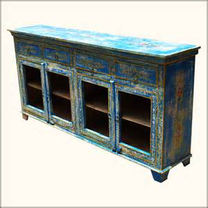 Dining Room Sideboard Rustic Reclaimed Wood Distressed Painted Sideboard Dining Room Buffet Cabinet