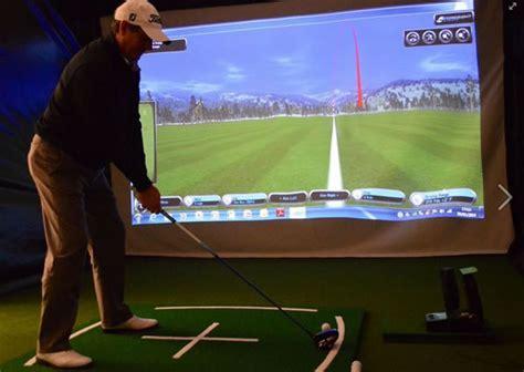 golf swing technology golf simulator and golfer