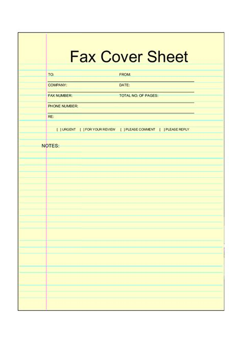 basic fax cover sheet to download basic free printable printable