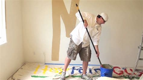 how to paint a house how to paint a room interior house painting using a roller youtube