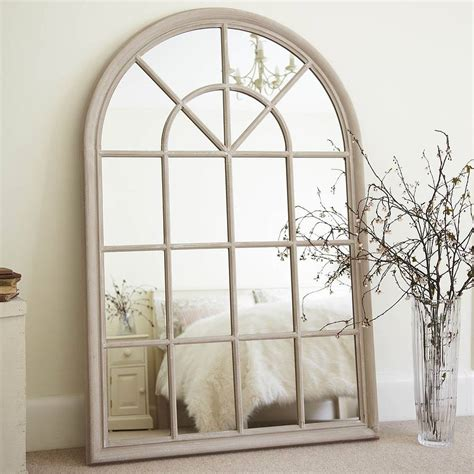 cream arched window mirror by primrose plum notonthehighstreet com