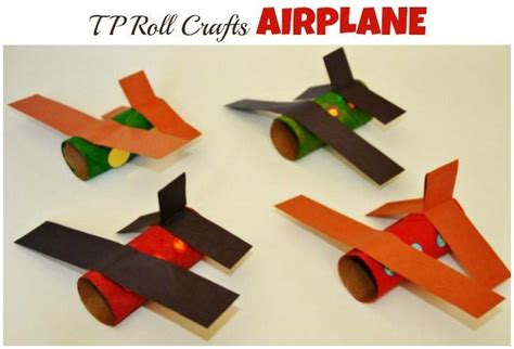 Paper Airplane Craft - paper roll craft airplane crafts
