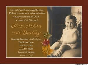 autumn leaves 80th birthday invitation childhood photo honoree