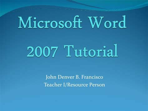 tutorial video word microsoft word 2007 tutorial