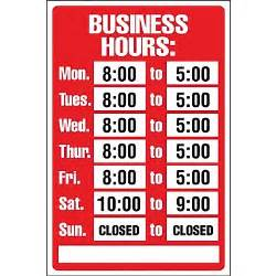 kitchen collection store hours cosco 174 business hours sign kit 8 quot x 12 quot staples 174