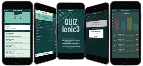 Quizionic3 Android Ios Quiz App Template W Local Sqlite Db Php Mysql Backend Plugins By Ios Quiz App Template