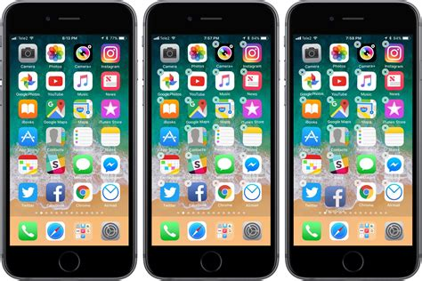 how to move apps at once on iphone and